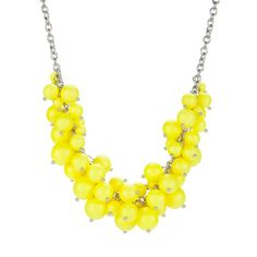 Ted Baker DYANIE - Cluster necklace (£32) ❤ liked on Polyvore featuring jewelry, necklaces, accessories, brght yellow, shell jewelry, bead necklace, adjustable necklace, seashell jewelry and shell necklace
