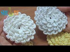 ❧Pretty Flowers, Crochet designs, diagrams, how to's and ideas Crochet Fluffy Flower Tutorial 9 Crochet Puff Flower, Crochet Flower Tutorial, Crochet Leaves, Knitted Flowers, Crochet Flower Patterns, Crochet Motif, Crochet Designs, Knit Crochet, Ravelry Crochet
