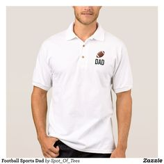Football Sports Dad Polo Shirt - Cool And Comfortable Golfer Polo Shirts By Talented Fashion & Graphic Designers - #polo #gold #golfing #mensfashion #apparel #shopping #bargain #sale #outfit #stylish #cool #graphicdesign #trendy #fashion #design #fashiondesign #designer #fashiondesigner #style