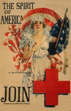 WW I Red Cross Poster  by Howard Chandler Christy