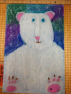 WHAT'S HAPPENING IN THE ART ROOM?? 1st grade Polar Bears...cool colors.