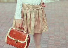 cute skirt and love tights