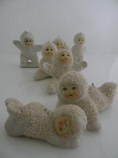 Vintage Snow Babies Ornaments Figurine set 1920'