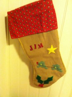 felted wool stocking