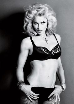 Madonna... I loved her back in the day! She was real....Not like Lady Gaga!