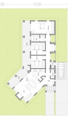 Add master bath and walk in closet Modern House Plans, Small House Plans, House Floor Plans, Bungalow House Design, Modern House Design, L Shaped House, Villa Plan, Apartment Plans, Cabin Plans