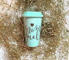Coffee Mug- Mom Fuel -- Coffee Mug -- Calligraphy Mug -- Funny