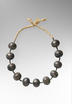 Necklace of Wah Period: Middle Kingdom Dynasty: Dynasty 12 Reign: reign of Amenemhat I, early Date: ca. 1981–1975 B.C. Geography: From Egypt, Upper Egypt, Thebes,
