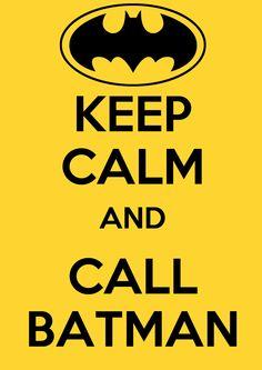 Keep calm and call Batman amarillo y negro