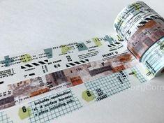 SAMPLE Washi Tape Yohaku masking tape colors/ black & white/ Masking Tape, Washi Tape, Custom Checks, Plastic Card, No Response, Japan, Black And White, Cards, Colors