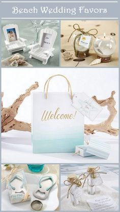 Beach wedding and party favors and accessories from timelesstreasure.theaspenshops  #beachwedding