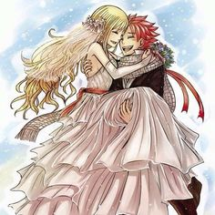 Natsu and Lucy married
