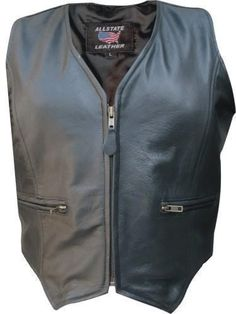 55.00$  Buy here - http://vitik.justgood.pw/vig/item.php?t=6iq0o85986 - Womens Leather Motorcycle Zip Up Vest Biker S-3X