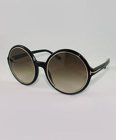 Take a look at this Black Round Carrie Sunglasses by Tom Ford on #zulily today!