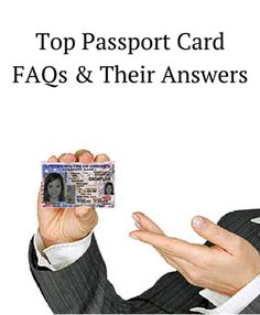 Passport Card - Frequently Asked Questions with Answers Passport Renewal, Passport Card, Things To Know, Tree Branches, Art Pieces, Messages, This Or That Questions, Cards, How To Make