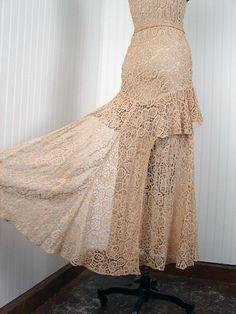1930s Dress  Vintage 30s Wedding Dress  Ivory by jumblelaya, $1428.00