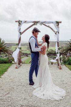 """Say """"I Do"""" to this view - Carrington Estate Vineyard, flowing through native wetlands to the glistening waters of the pacific."""
