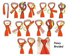 The Fancy Braided Knot Tie Knot Styles, Scarf Styles, Tie A Necktie, Necktie Knots, Cool Tie Knots, Dress Code Guide, Fancy Braids, Tie And Pocket Square, Suit And Tie