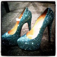 Teal Heels with sparkle!
