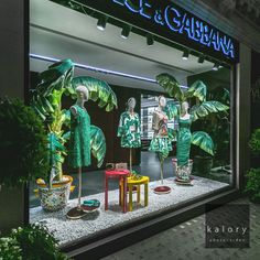 """DOLCE & GABANNA, London, UK, """"Sometimes a person just needs a little tropical paradise"""", pinned by Ton van der Veer"""