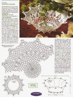 Crochet Leaf Patterns, Crochet Doily Diagram, Freeform Crochet, Thread Crochet, Filet Crochet, Crochet Doilies, Crochet Stitches, Crochet Vase, Crochet Gifts