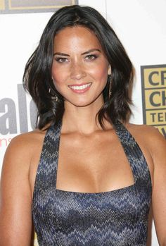 Olivia Munn is gorgeous in a skin tight halter dress, closeup and cleavage