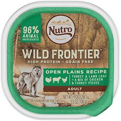 NUTRO Wild Frontier Open Plains Recipe Turkey and Lamb Loaf With a Mix of Chicken and Turkey Pieces Dog Food Trays 3.5 Ounces (Pack of 24) @@ You can read more reviews of the product by visiting the link on the image. (This is an affiliate link and I receive a commission for the sales)