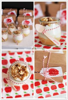 Mascarponecreme auf Apfel-Vanille-Kompott mit Karamellnüssen
