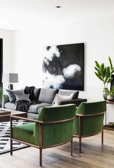 New Midcentury Modern Living Room . New Midcentury Modern Living Room . Modern with A touch Of Glam Inspired Interior Design Home Decor Bedroom, Room Colors, Living Room Green, Interior Design, Interior Design Living Room, Interior, Living Decor, Living Room Grey, Living Room Designs