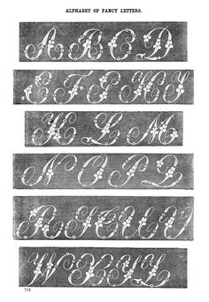 Fancy letters for embroidery, August 1864