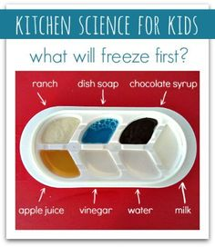 Science you can do in your kitchen using what you have on hand! From No Time for Flash Cards.