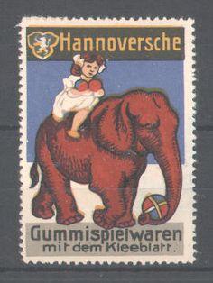 Elephant stams & labels | Cinderella stamp