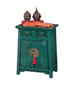 Mesa de luz Chinese Furniture, Old Furniture, Vintage Furniture, Painted Furniture, Chinese Interior, Room Of One's Own, Painted Cottage, Asian Design, Asian Decor