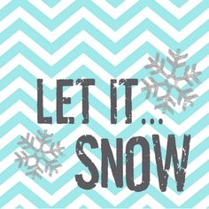 Let it Snow free winter printable from Two Yellow Birds, featured @printabledecor1