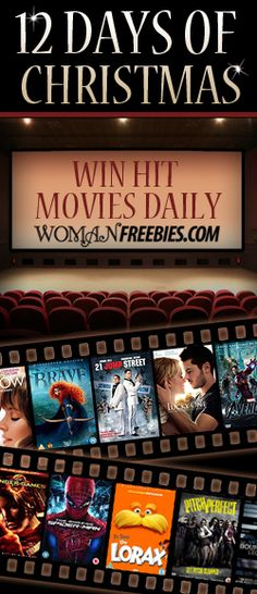 Enter to win a hit movie to watch over the holidays! Every day is a new title will be up for grabs!    http://womanfreebies.com/sweepstakes/movie-giveaways/