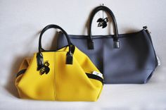 BIBI BAG in Dark Yellow and Grey