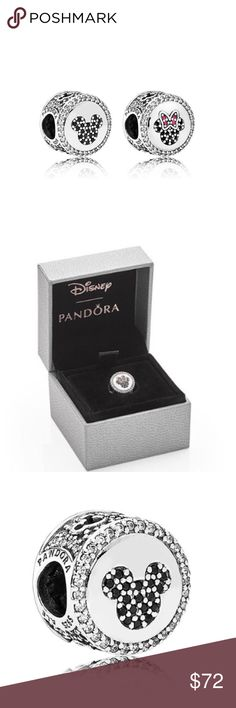 Pandora Disney Mickey Minnie Sparkling Icons Charm Pandora Mickey & Minnie Sparkling Icons Limited Edition Charm, one character on each side. Limited for Fall 2016 This listing is for a Brand NEW and Authentic Pandora Disney Charm:   -1 Mickey & Minnie Sparkling Icons Limited Edition Charm ($85)   Comes with Pandora paper foldable Charm box and Pandora sticker.   ** Please note that Price is FIRM, NOT accepting Offers.   *Disney Parks bracelet is available for an extra $55 and is available…