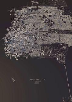 Le città in 3D nei poster di Luis Dilger   Frizzifrizzi