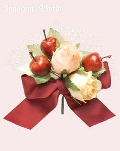 Innocent World リンゴとバラのクリップ