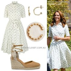 Duchess Kate, Duke And Duchess, Duchess Of Cambridge, Kate Middleton Outfits, Kate Middleton Style, Cotton Shirt Dress, My Fair Lady, Princess Kate, Love Her Style