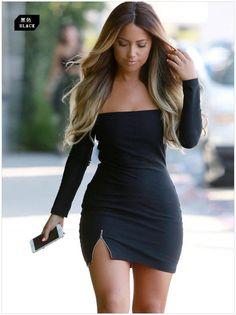 2fb5a95466c Autumn Long Sleeve Bottoming Dress 2016 Women Sexy Off Shoulder Slash Neck  Slim Hip Mini Dress Casual Party Club Dress