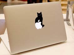 macbook decal mac pro decals laptop cat macbook by MixedDecal, £2.75