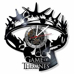 Game of Thrones vinyl Wall Clock- Modern room decor-Uniqu...