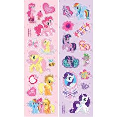 American Greetings My Little Pony Sticker Sheets My Little Pony Stickers, My Little Pony Unicorn, Kids Rewards, My Little Pony Birthday Party, Birthday Gift Bags, Halloween Party Favors, American Greetings, Party Favor Bags, Rainbow Dash