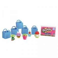 A five-pack of characters in the new line of Shopkins miniature grocery-themed collectibles