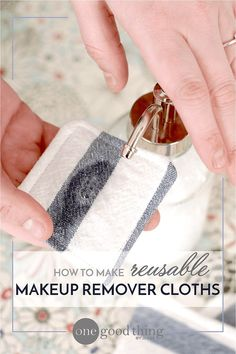 Homemade makeup remover - in a dispenser is good