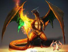 Pokemon: Mega Charizard Y by LindseyWArt on DeviantArt