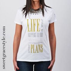 Camiseta mujer SGS 027 White http://sweetgracestyle.com/camisetas-mujer-originales/camiseta-mujer-SGS-life-plans-blanca   #camiseta #camisetas #mujer #camisetasmujer