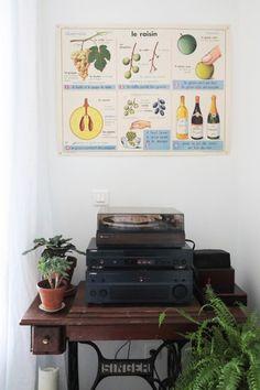Table Machine à coudre Singer // © Hellø Blogzine // Home Tour A sunday Morning Les Bons Coins, Vintage Soul, Blog Deco, Retro, Interior, Illustration, Lifestyle, Inspiration, Bohemian House