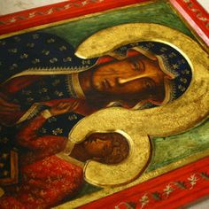 Matka Boska Częstochowska - kopia ikony - Pracownia Temper Madonna Art, Blessed Virgin Mary, Tempera, Polish, Painting, Sacred Art, Vitreous Enamel, Painting Art, Paintings